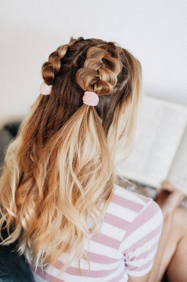 Get Back To School Studying In Style With The Kitsch Mesh Hair Ties In Blush Mauv Medium Length Hair Styles Back To School Hairstyles