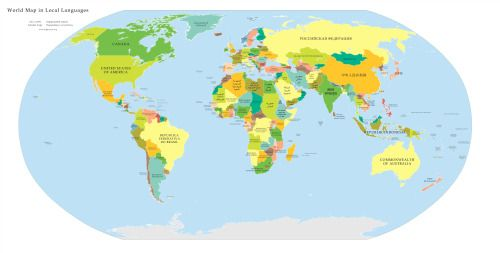 Large political map of the world with countries labeled in... | The ...