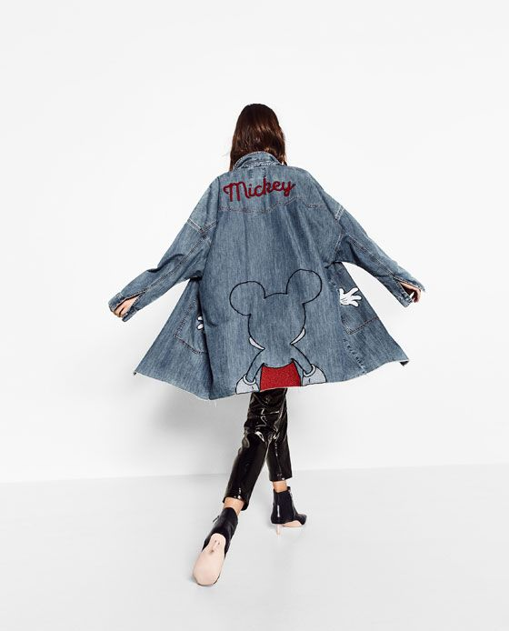 88ad103919 Image 6 of PRINTED DENIM TRENCH COAT from Zara