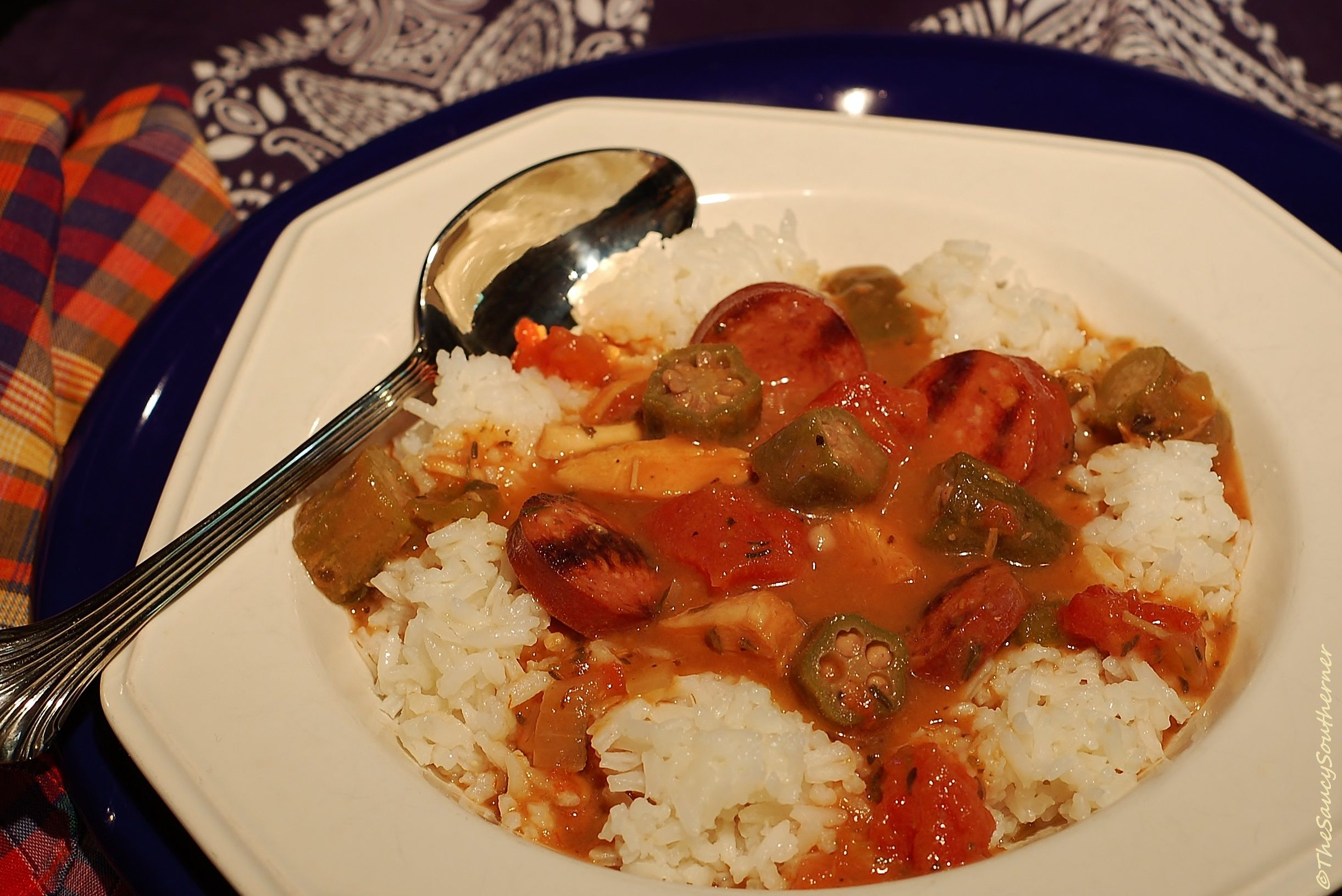 Slow Cooker Gumbo with Andouille Sausage and Chicken (Crock-Pot #crockpotgumbo