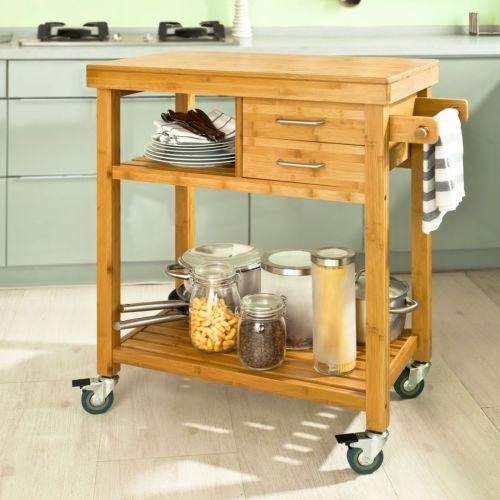 Sobuy desserte roulettes dressoir chariot meuble for Rangement a roulettes cuisine