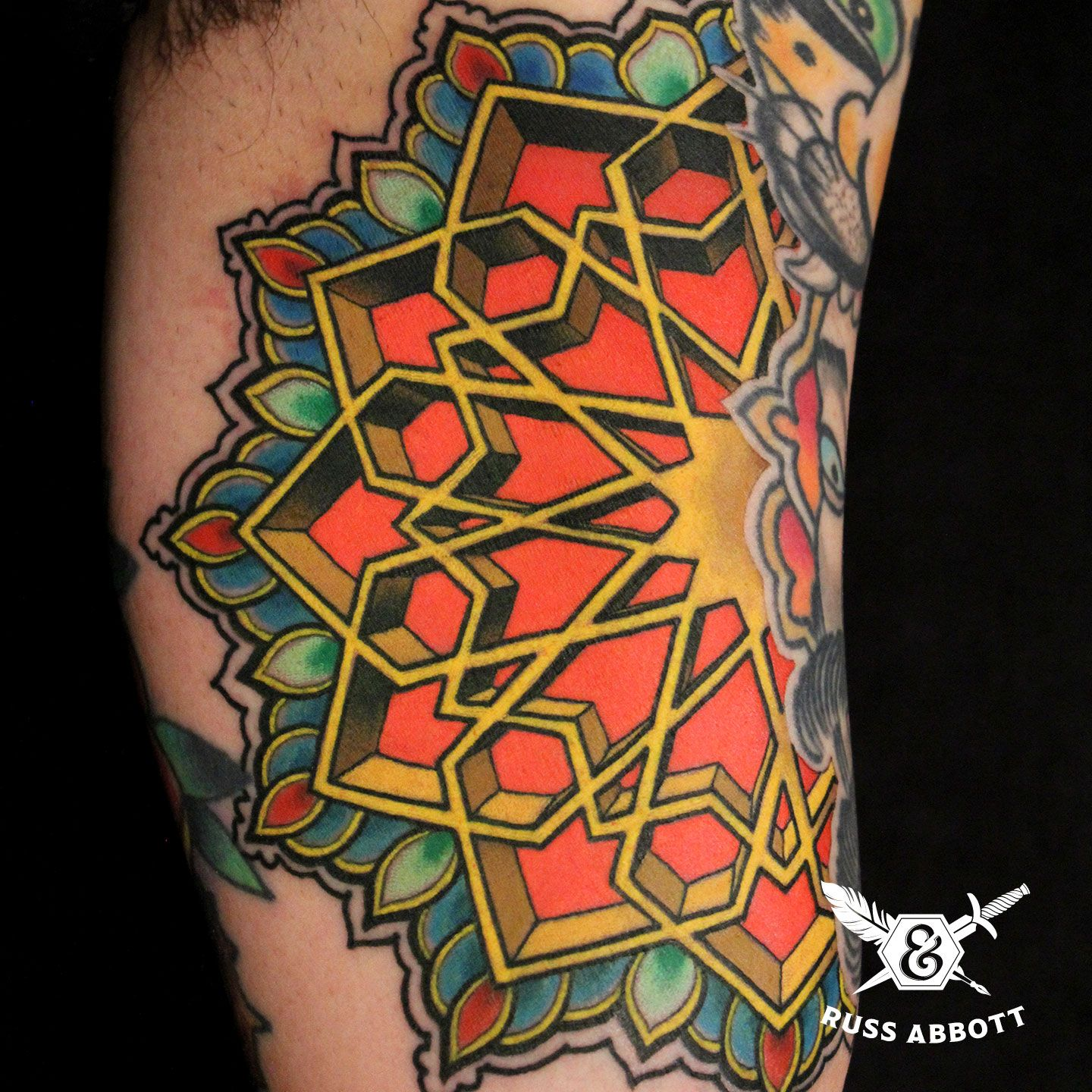 russ abbott 3d mandala ink and dagger tattoo roswell ga