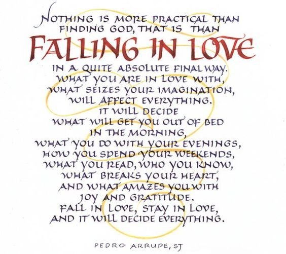 Image Result For Fall In Love By Father Pedro Arrupe