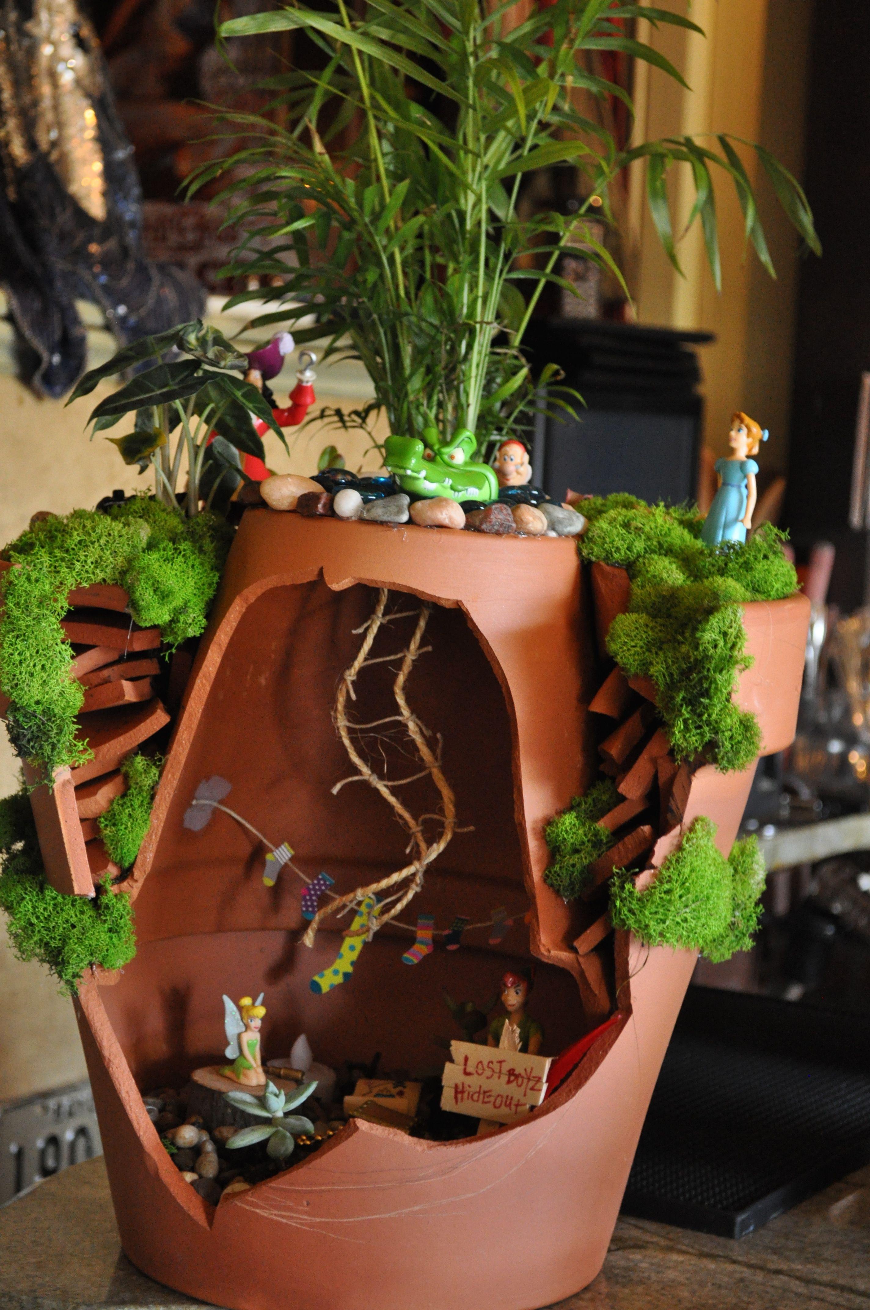 Peter Pan Fairy Garden Gardening yard Pinterest