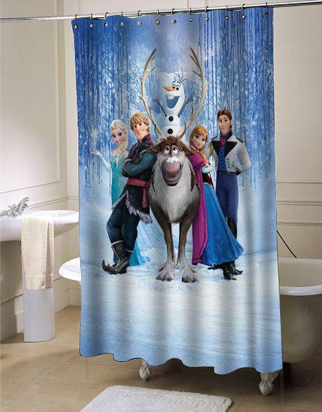 Disney Frozen Shower Curtain By Flowerscurtain On Etsy