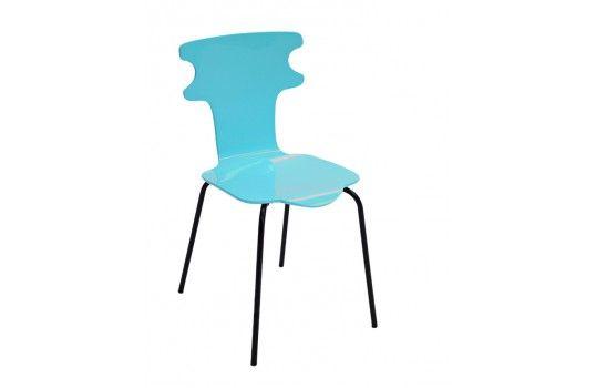 Chaise bleu design ciel Coquettedu en sur la une structure jLSVUqzMpG