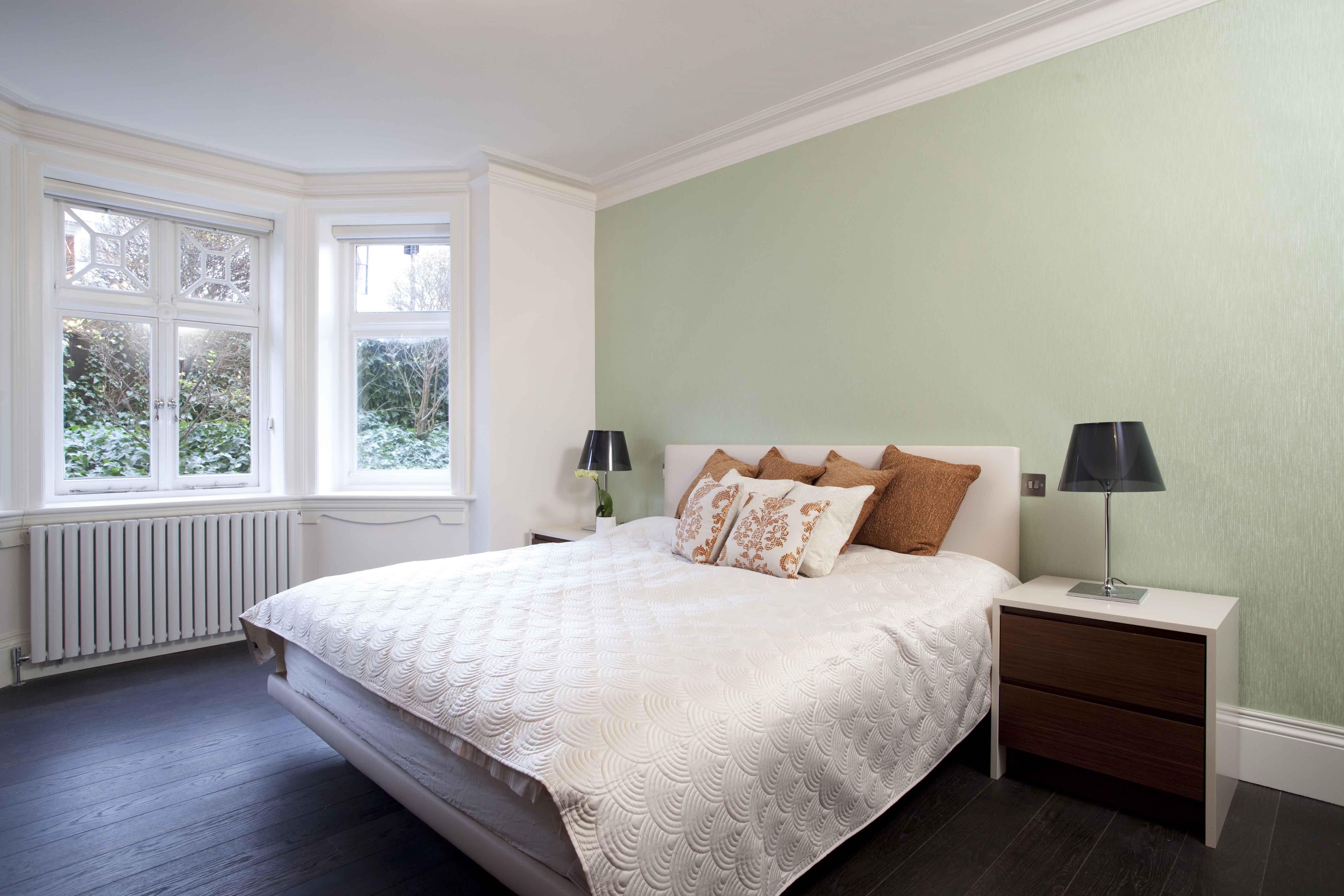 master bedroom dark hardwood floor light green wall on floor and decor id=65449
