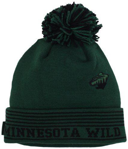 5a0416e7f58 NHL Minnesota Wild Cuffless Knit Hat With Pom