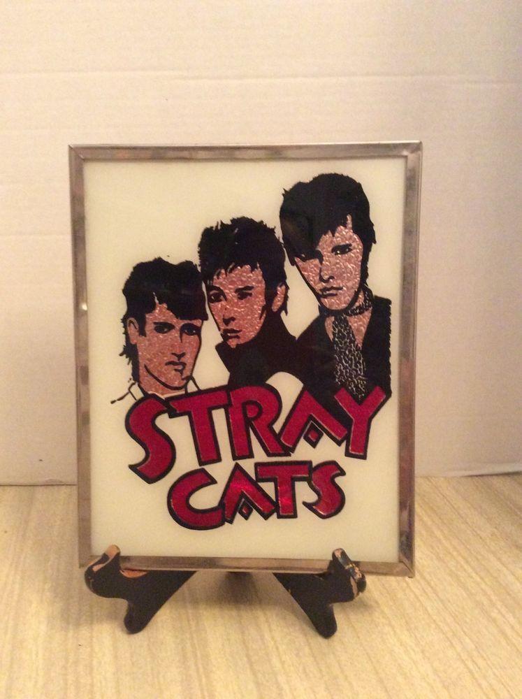 Stray Cats Vintage Carnival Mirror Brian Setzer
