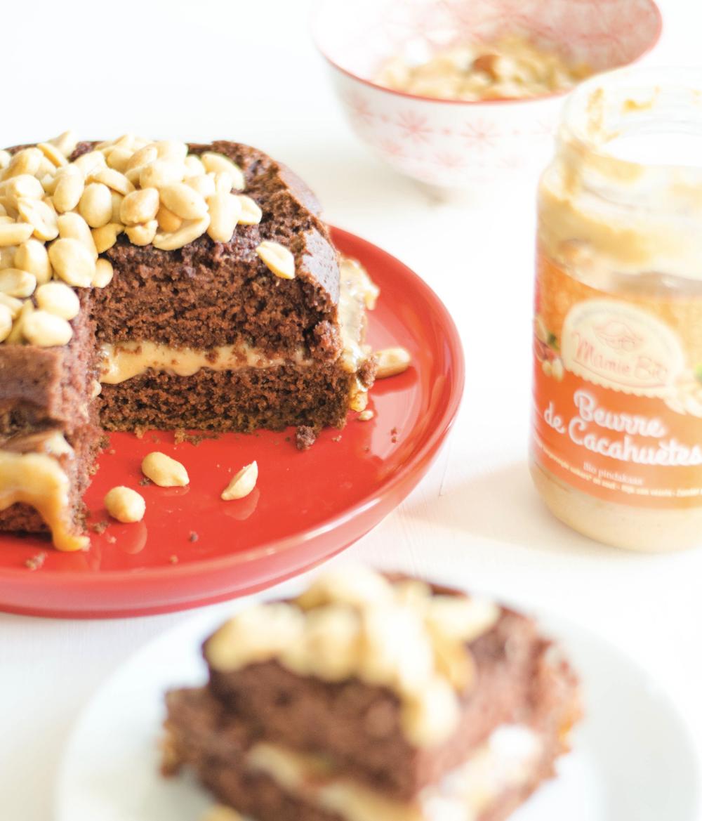 Recette gâteau au chocolat & peanut butter végane et sans ...