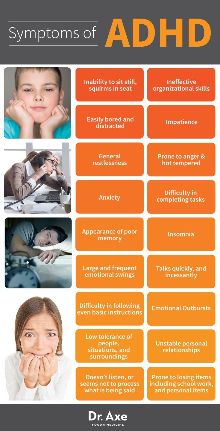 causes and symptoms of adhd