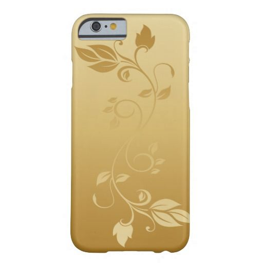Gold Floral Swirly Pattern iPhone 6 Case