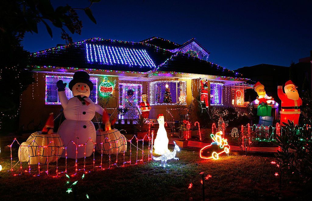 The Most Extravagant Christmas House Light Decorations Christmas Light Installation Solar Christmas Lights Christmas Lights