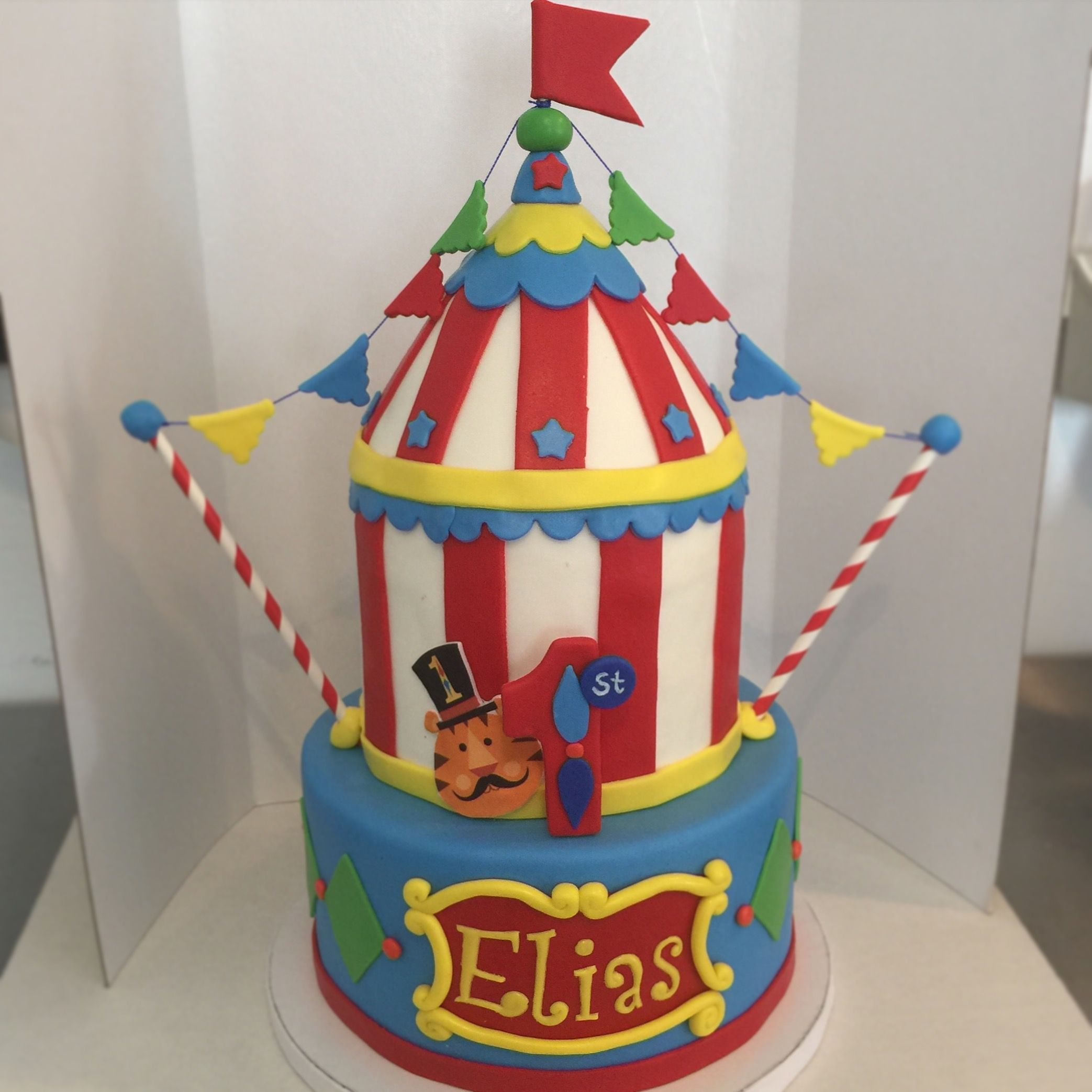 Fischer Price Circus Carnival First Birthday Cake By 83 Sweets