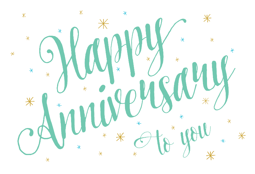 Anniversary Script - Happy Anniversary card you can print or send as ...