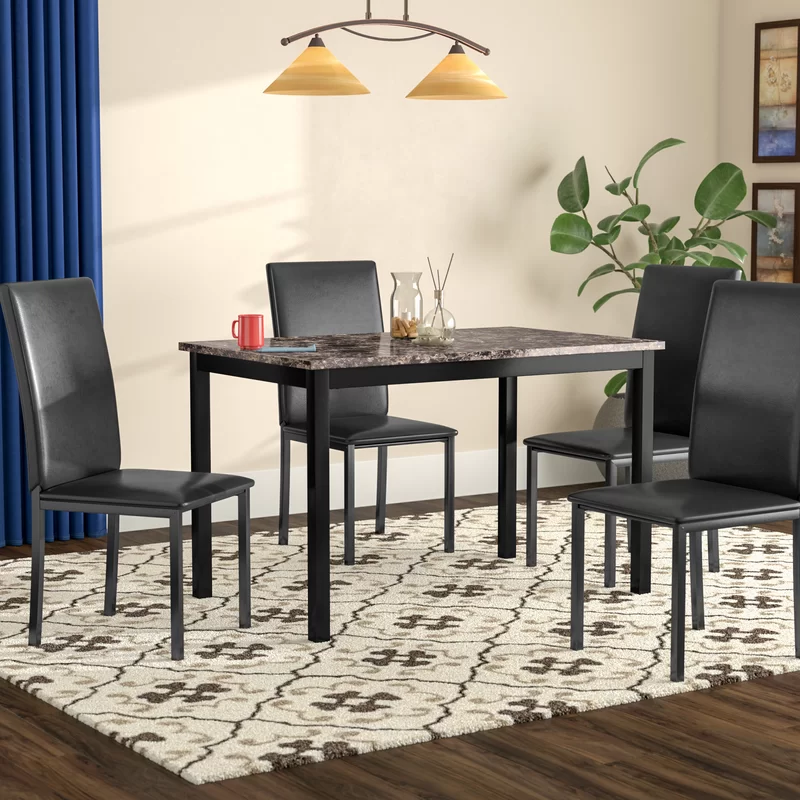 Noyes 5 Piece Dining Set Nook Dining Set Dining Room Small Breakfast Nook Dining Set