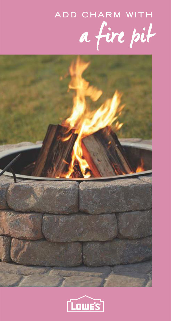 Predesigned fire pit ring kits come in a variety of sizes