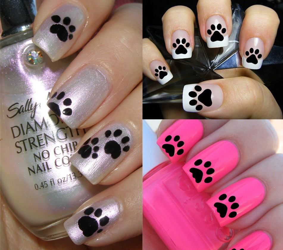 cute paw print nail art - 56 Stunning Unique Animal Nail Art Ideas For Your Wild Side Nail