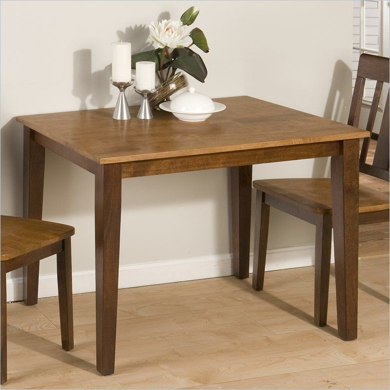 Jofran 875 Series Casual Dining Table in Kura Espresso and Canyon Gold - 875-40 - Simple Kitchen Table