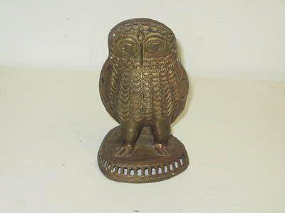 Image detail for -Vintage Solid Metal Owl Figurine Incense Burner Brass? Bronze? 6-1/2 ...