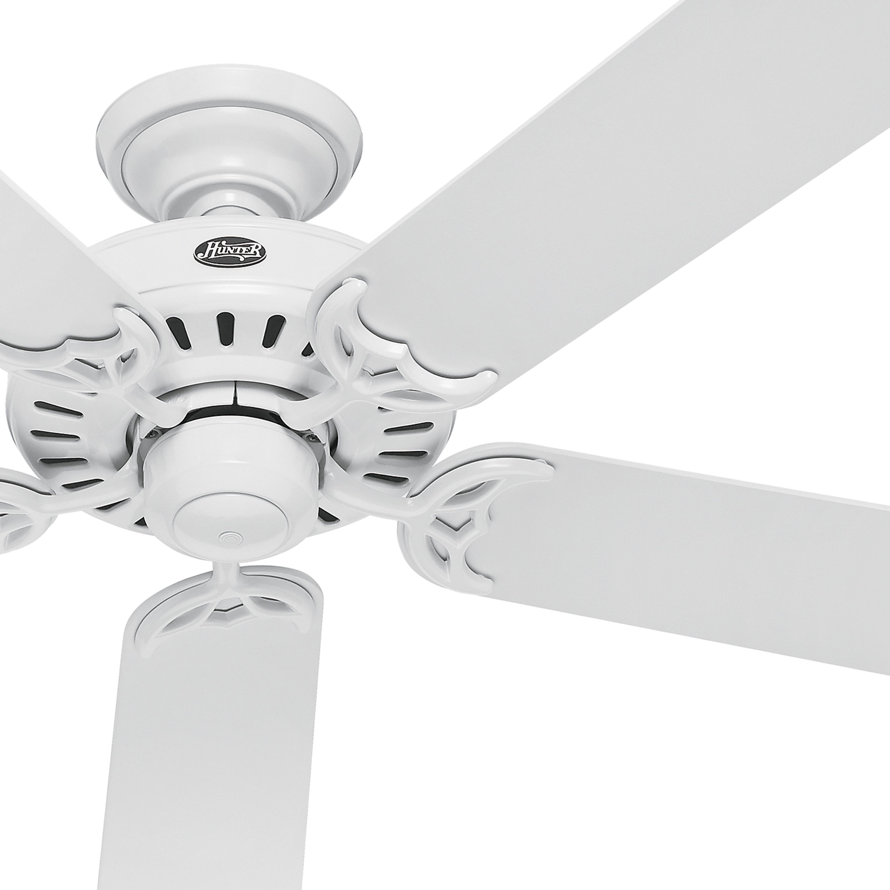Hunter 52 Inch Energy Star Rated White Finish Ceiling Fan