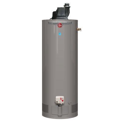 Rheem Performance 50 Gal Tall 6 Year 42 000 Btu Natural Gas Power Vent Tank Water Heater Xg50t06pv42u0 The Home Depot Gas Water Heater Water Heater Electric Water Heater