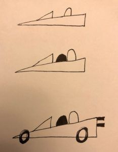 This Is How To Draw A Simple Race Car Car Drawing Easy Car Drawing Kids Drawing Lessons For Kids