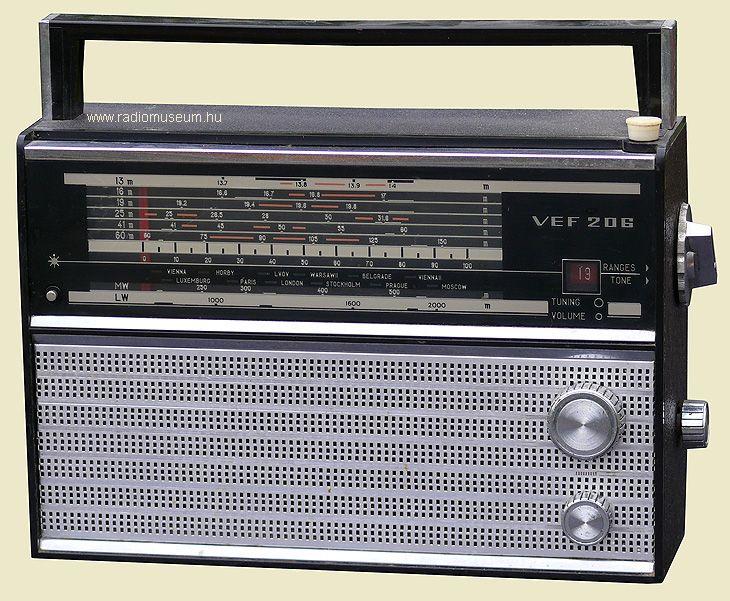 Vef 206 Antique Radio Vintage Radio Radio Design