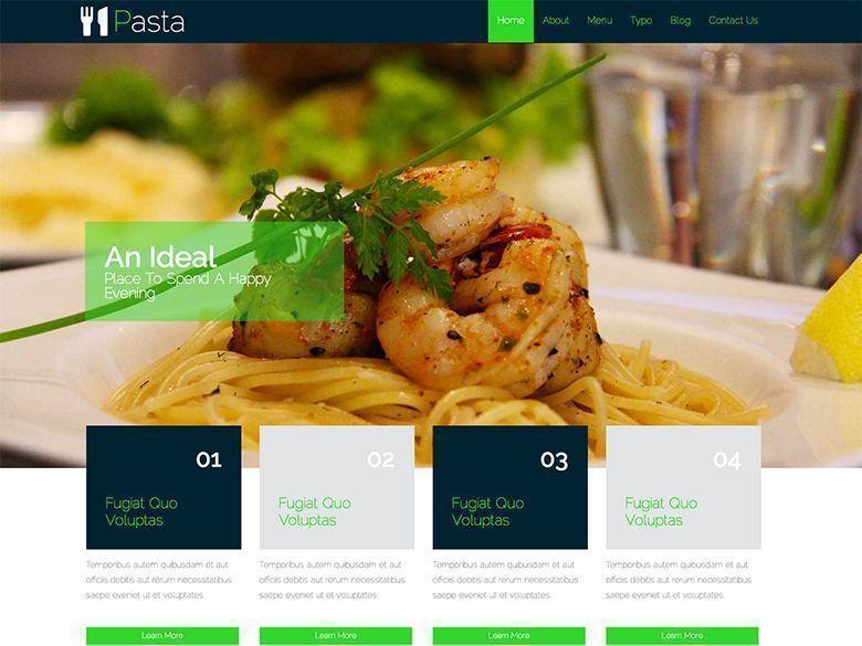 Pasta - Plantilla gratis HTML5 y CSS3 para restaurantes | Web Page ...
