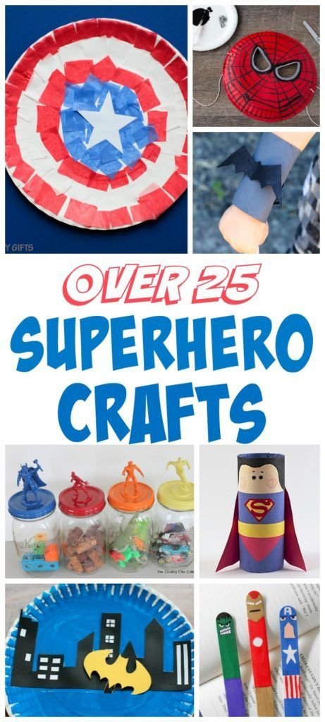 Over 25 Superhero Crafts for Kids #superherocrafts