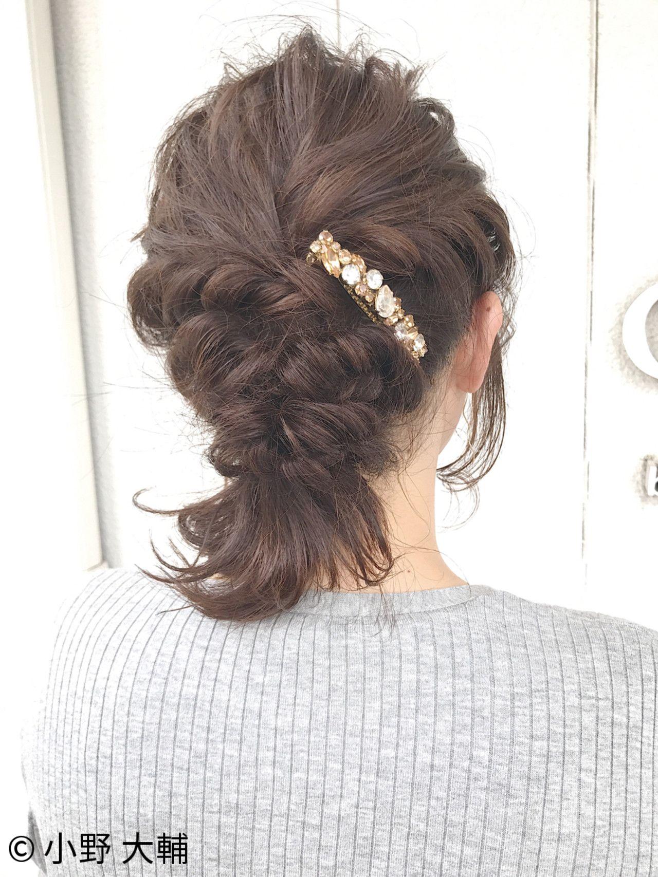 ボブスタイルのヘアアレンジ 結婚式 デート 浴衣にも似合うヘア