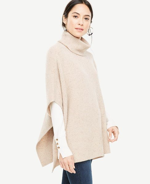bf096fa55 Shop Ann Taylor for effortless style and everyday elegance. Our Cashmere  Flecked Ribbed Poncho is