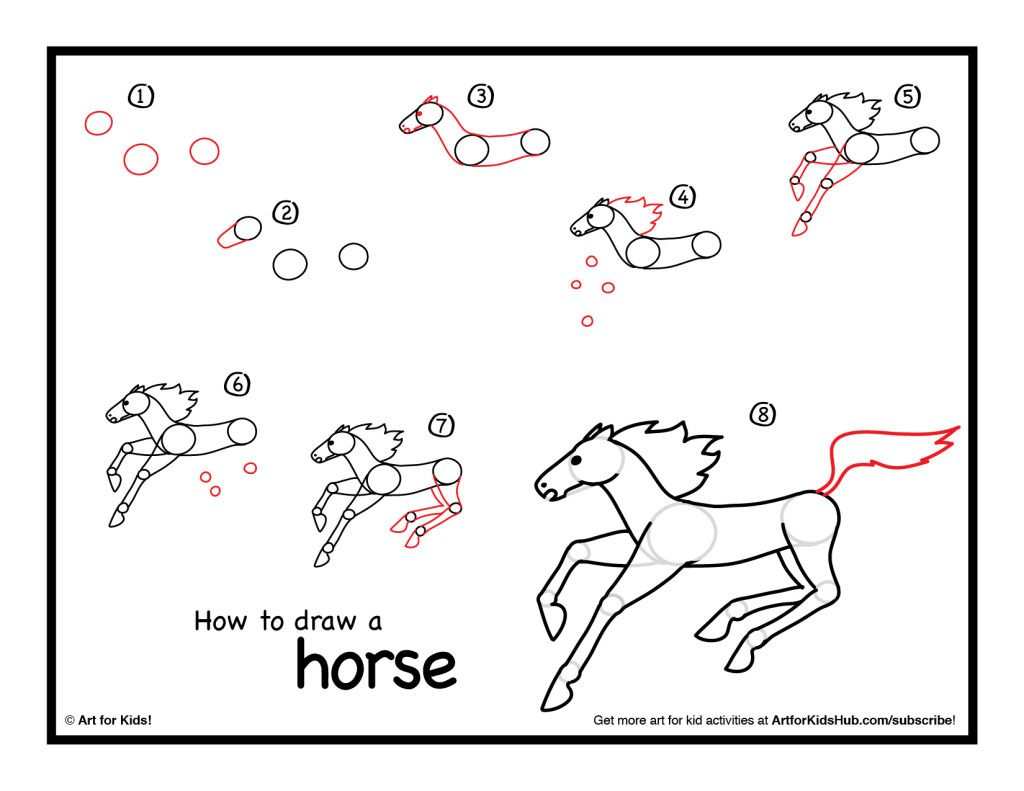 Uncategorized How To Draw A Horse Step By Step For Kids how to draw a horse step by 3 pinterest 3