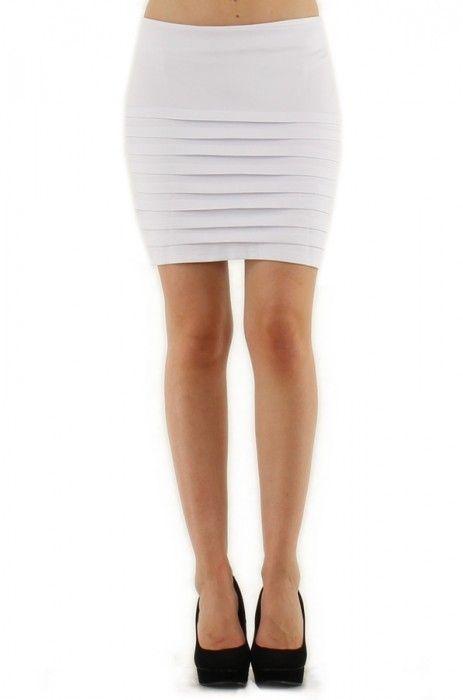 9c83fe98b falda corta minifalda ajustada plisada con tabla horizontal ...