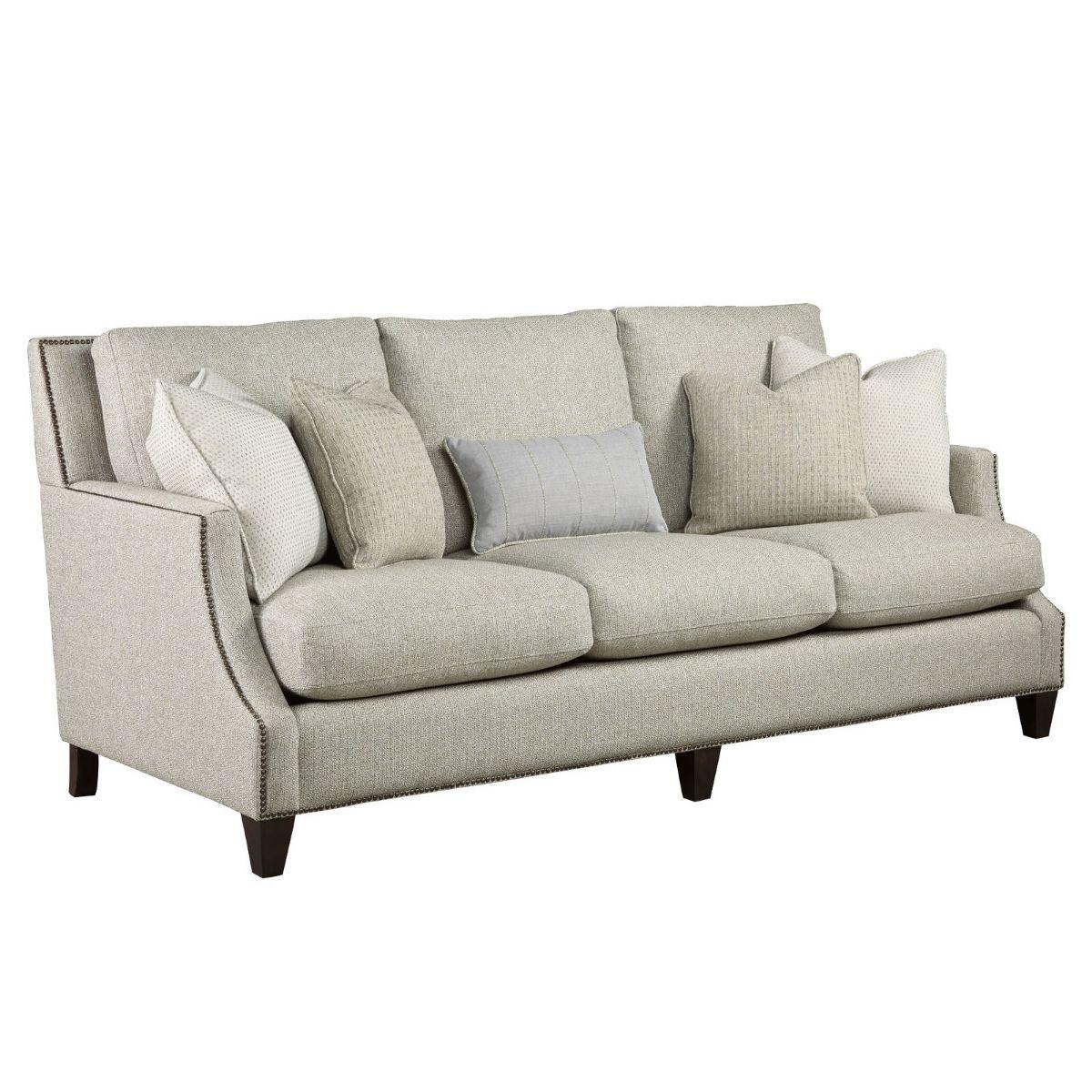 Brady 3 Seat Scoop Arm Sofa With Nailheads Modern Leather Sofa Modern Sofa Upholstered Sofa