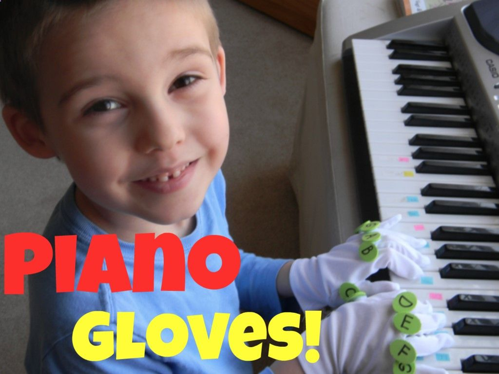 LEARN PIANO MUSIC GLOVES  BUTTONS