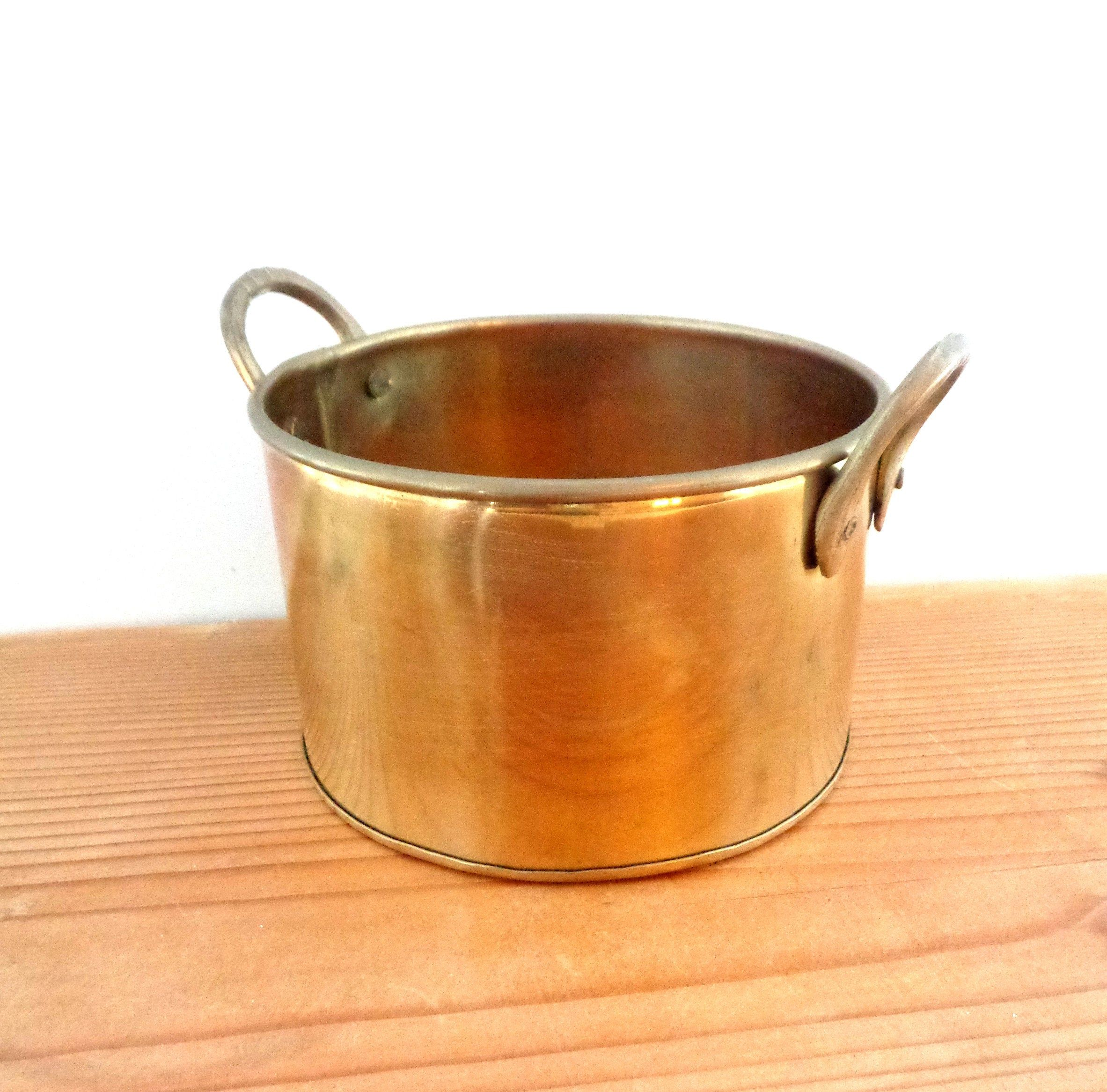 Vintage brass planter with handles, a gift from Ireland in