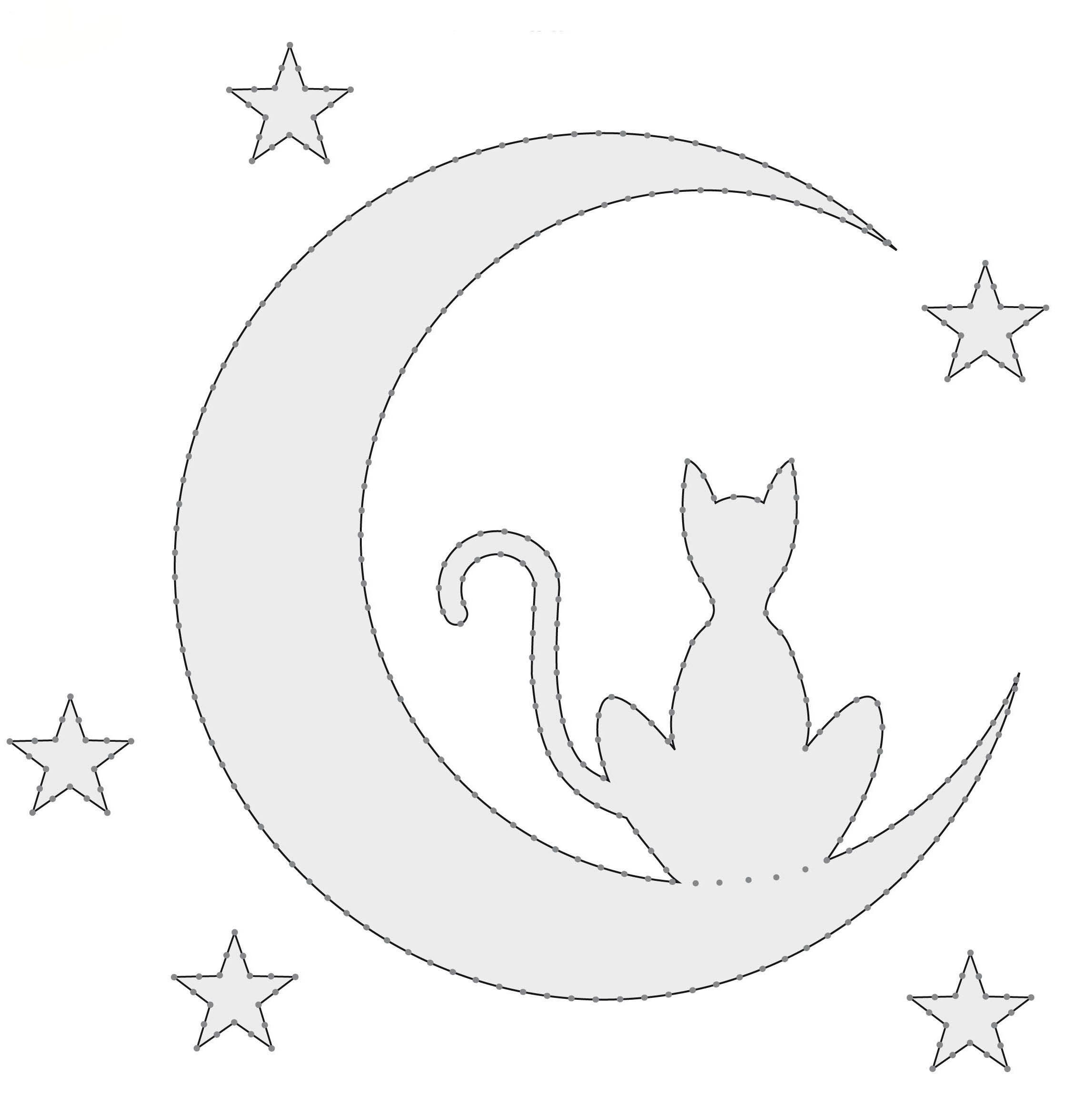 Трафарет кошки, кота. Шаблоны   Кругозор