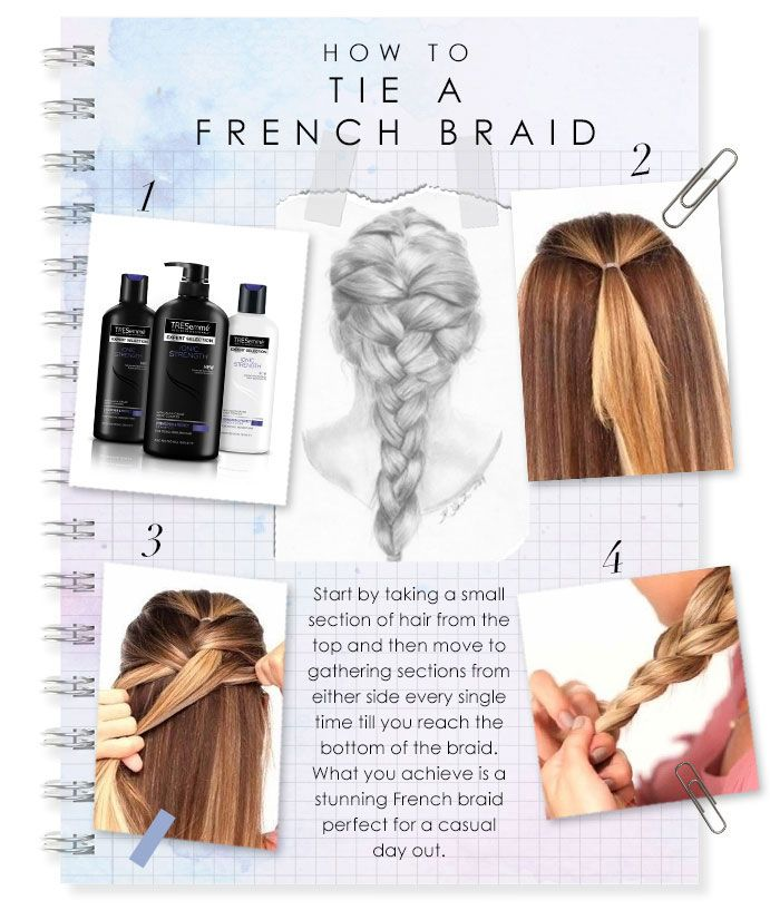 How to do a french braid hairstyles and haircut for big forehead theres nothing more elegant than a french braid hairstyle if youve been eyeing this hairdo for a while heres how you can do it yourself in few simple solutioingenieria Choice Image