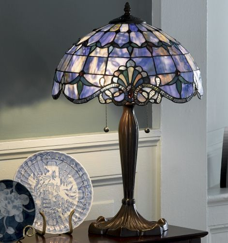 Shades Purple Stained Gl Lamp Looks A Little More Blue Than So Not Sure Would Have To See In Person