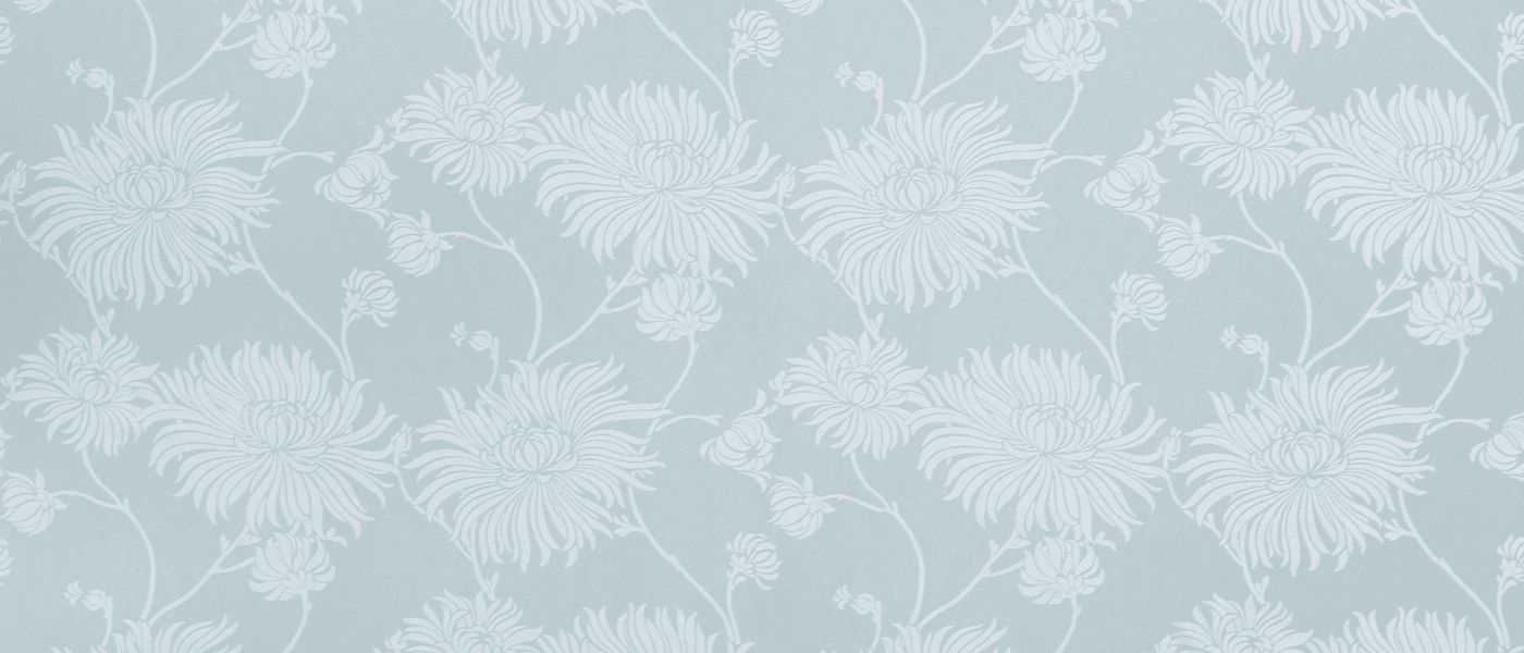 Kimono Duck Egg Floral Wallpaper At Laura Ashley Floral
