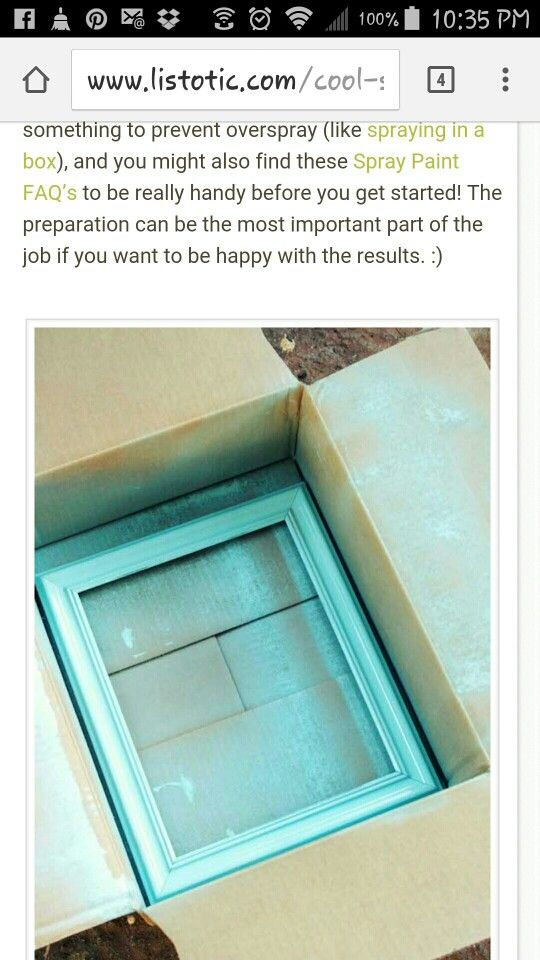 Spray paint in a box
