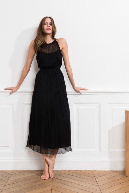79c8b1653d73 CAROLL Maxi-robe chic 100% soie Été 2018 Taille 38 Neuve Valeur 160 ...