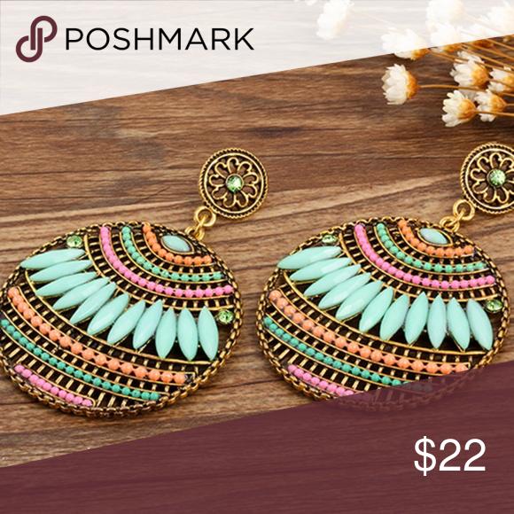 bohemian statement jewelry artisan jewelry pink long earrings romantic Wire work chandelier earrings