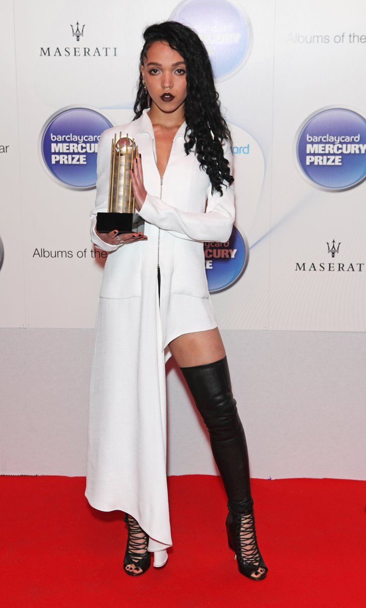 Pin for Later: There's No Way FKA Twigs Will Wear a White Wedding Gown FKA Twigs at the 2014 Mercury Prize Awards