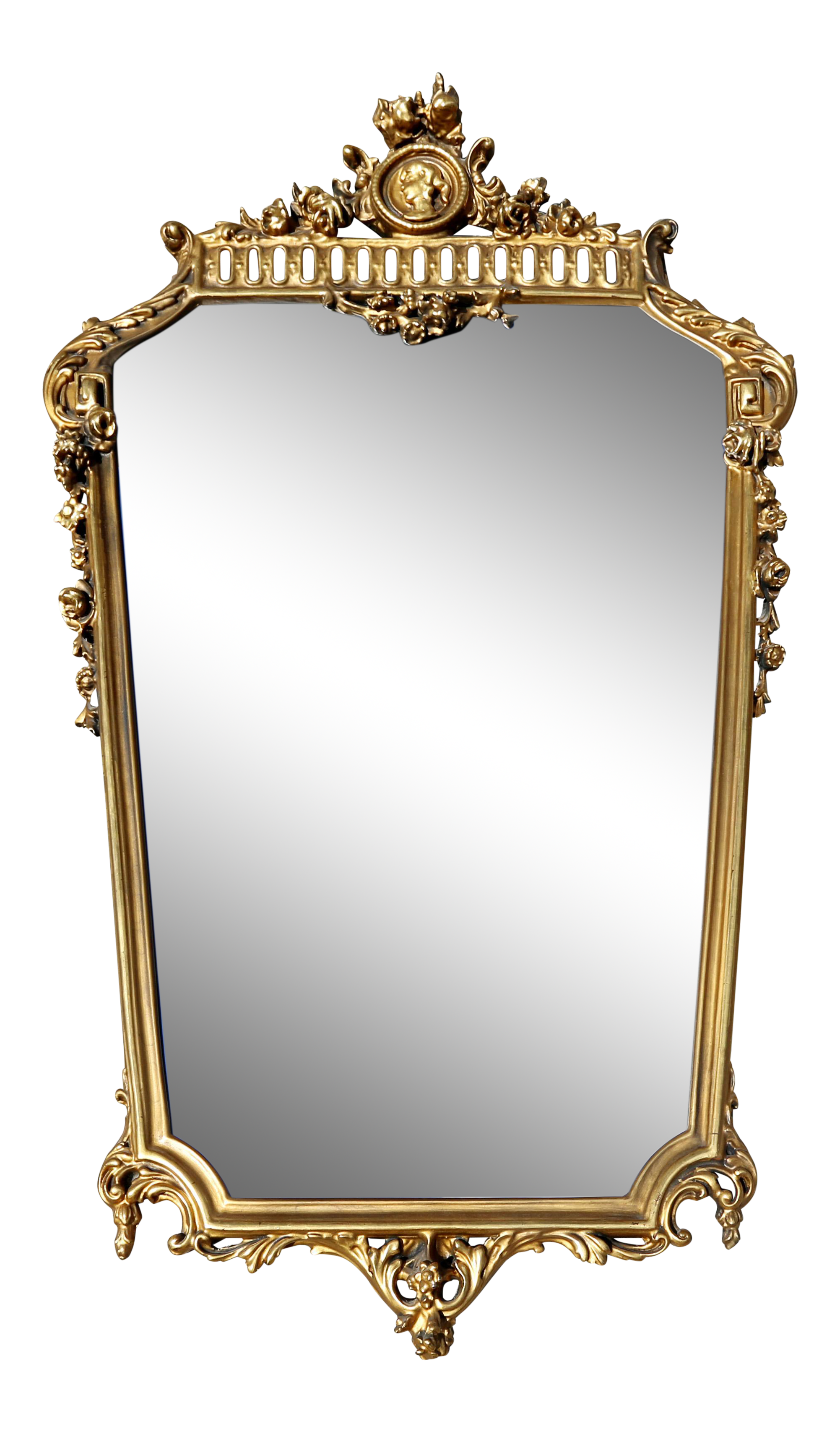 Vintage Tapered Gold Gilt Cameo Mirror On Chairish Com Antique Mirror Frame Mirror Gilt Mirror