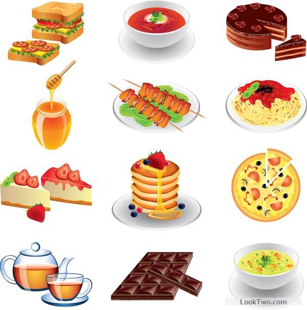 Free Fast Food Icons Set Vector Graphics 02 Vector Download Food Food Icons Vector Food