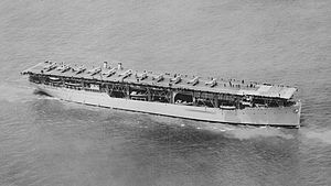 USS Langley (CV-1/AV-3) was the United States Navy's first aircraft carrier, converted in 1920 from the collier USS Jupiter (AC-3), and also the U.S. Navy's first electrically propelled ship.