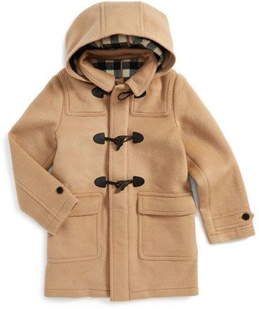 2a1520de4 BURBERRY  BROGAN  HOODED WOOL TOGGLE COAT (BABY BOYS)  450 by ...