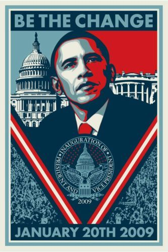 #Trending04 - Shepard Fairey Be the Change SIGNED Obama THIN Print Poster Art Obey Giant https://t.co/aeJX3tI8fW Eb https://t.co/jUTm4BSHJB